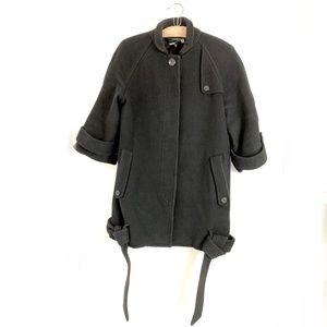 Black wool 3.1 philip lim coat jackie O 60s
